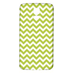 Spring Green & White Zigzag Pattern One Piece Boyleg Swimsuit Samsung Galaxy S5 Back Case (white)