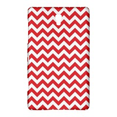 Poppy Red & White Zigzag Pattern Samsung Galaxy Tab S (8 4 ) Hardshell Case